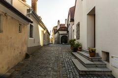 Straat in Melk-stad in Oostenrijk royalty-vrije stock foto