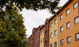 Straat met gebouwen Stock Foto