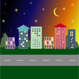 Straat met kleurrijke huizen in Europa Royalty-vrije Stock Afbeelding