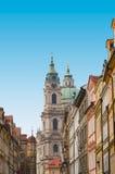 Straat met kleurrijke huizen, Praag Royalty-vrije Stock Afbeelding