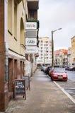 Straat met restaurants royalty-vrije stock foto's