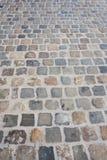 Straat met textuur van kei stock fotografie