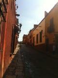 Straat in Mexicaanse Stad Stock Afbeeldingen