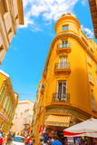 Straat Monaco -Monaco-ville Royalty-vrije Stock Afbeelding