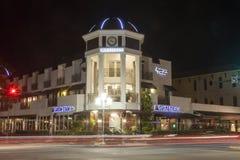 Straat in Napels bij nacht Florida, de V Royalty-vrije Stock Afbeeldingen
