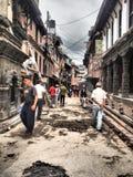 Straat in Nepal royalty-vrije stock foto