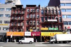Straat in New York Stock Foto's