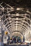 Straat in New York, viaduct. Royalty-vrije Stock Foto's