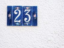 Straat nummer 23 Royalty-vrije Stock Afbeelding