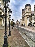Straat in Oost-Europa Stock Afbeelding