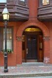 Straat op de Heuvel van het Baken van Boston Stock Foto