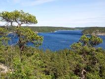Straat op het meer van Ladoga Royalty-vrije Stock Fotografie