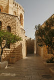 Straat op Onderstel Zion, Jeruzalem, Israe Stock Foto