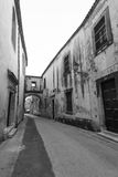 Straat in Ortigia Siracusa Stock Foto's