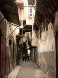 Straat in oud Damascus Royalty-vrije Stock Afbeeldingen