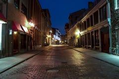 Straat in Oud Montreal Stock Afbeelding