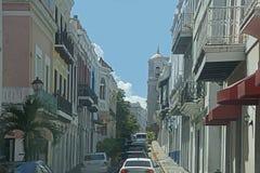 Straat, Oud San Juan Royalty-vrije Stock Afbeelding