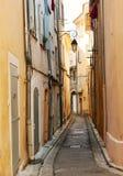 Straat in oude Aix Engelse Provnece Royalty-vrije Stock Fotografie