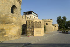 Straat in oude oude stad Baku Stock Afbeelding
