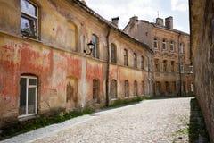 Straat in oude stad royalty-vrije stock afbeelding