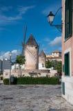 Straat in Oude Stad Palma de Mallorca royalty-vrije stock foto's