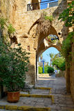 Straat in oude Yafo.tel aviv.israel Royalty-vrije Stock Afbeeldingen