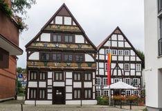 Straat in Paderborn, Duitsland Stock Foto's
