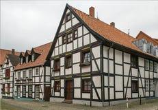 Straat in Paderborn, Duitsland Stock Afbeeldingen