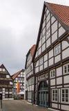 Straat in Paderborn, Duitsland Stock Foto