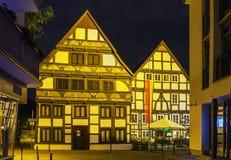 Straat in Paderborn, Duitsland Royalty-vrije Stock Foto's