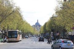 Straat in Parijs, Frankrijk Stock Foto