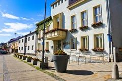 Straat in Parndorf royalty-vrije stock foto