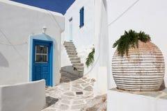 Straat in Paros Stock Foto