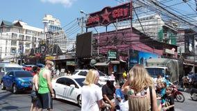 Straat in Patong Stock Foto's