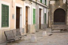 Straat in Pollenca, Majorca stock afbeelding