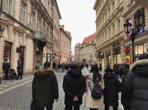 Straat in Praag Royalty-vrije Stock Afbeelding