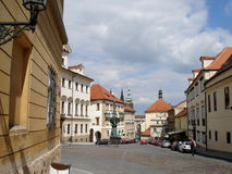 Straat in Praag Royalty-vrije Stock Foto