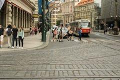 Straat in Praag Stock Afbeelding