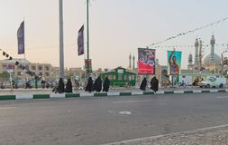 Straat in Qom, Iran stock afbeelding