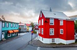 Straat in Reykjavik Royalty-vrije Stock Afbeelding