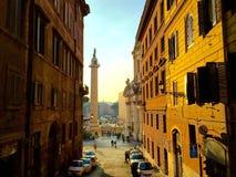 Straat in Rome Stock Afbeeldingen