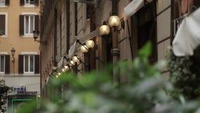 Straat in Rome stock videobeelden