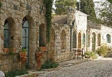 Straat in Rosh Pina.Israel Royalty-vrije Stock Afbeeldingen