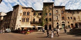Straat in San Gimignano Royalty-vrije Stock Fotografie