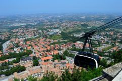 Straat in San Marino stock afbeeldingen