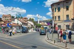 Straat in Sarajevo stock afbeelding