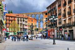 Straat in Segovia, Spanje royalty-vrije stock afbeelding