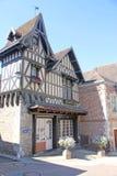 Straat in Selles sur Cher, Frankrijk royalty-vrije stock afbeeldingen