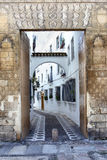 Straat in Sevilla royalty-vrije stock afbeeldingen
