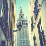Straat in Sevilla stock afbeeldingen
